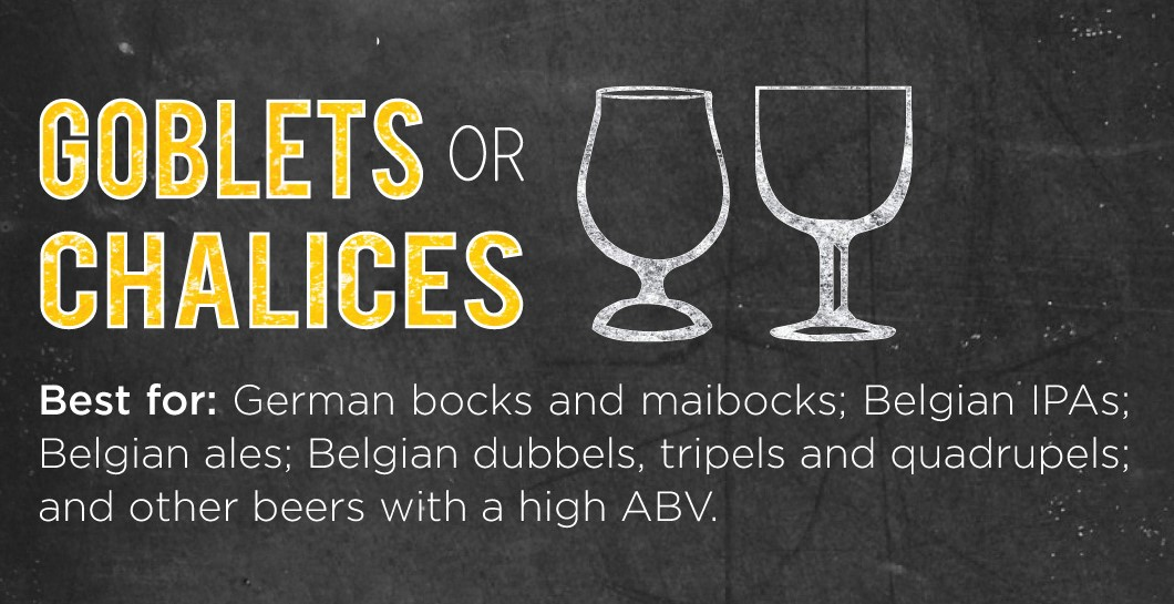 Goblet Glasses for German Bocks and Belgian Beers