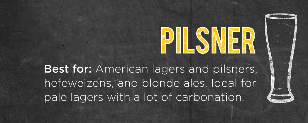 Pilsner Glass for Lagers and Pilsners