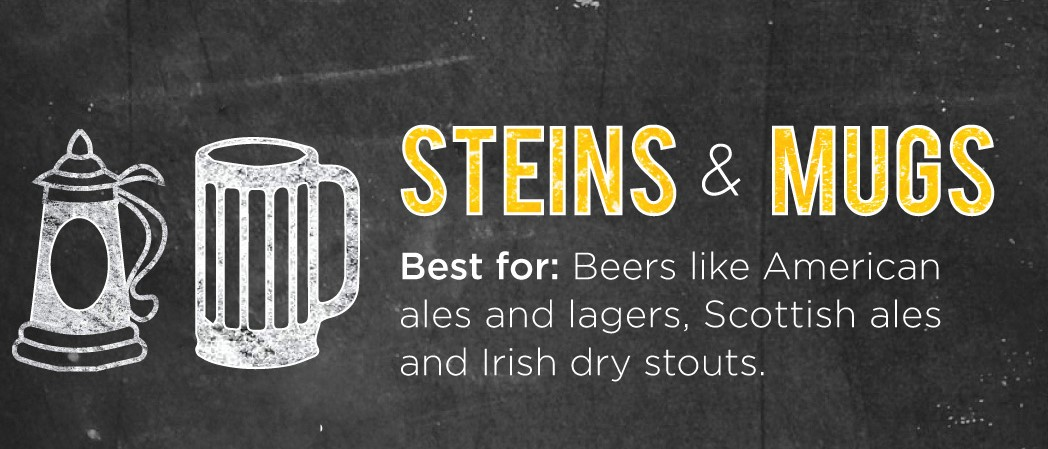 Steins and Mugs for American Ales
