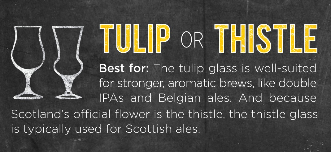 Tulip Glass for IPAs and Belgium Beers