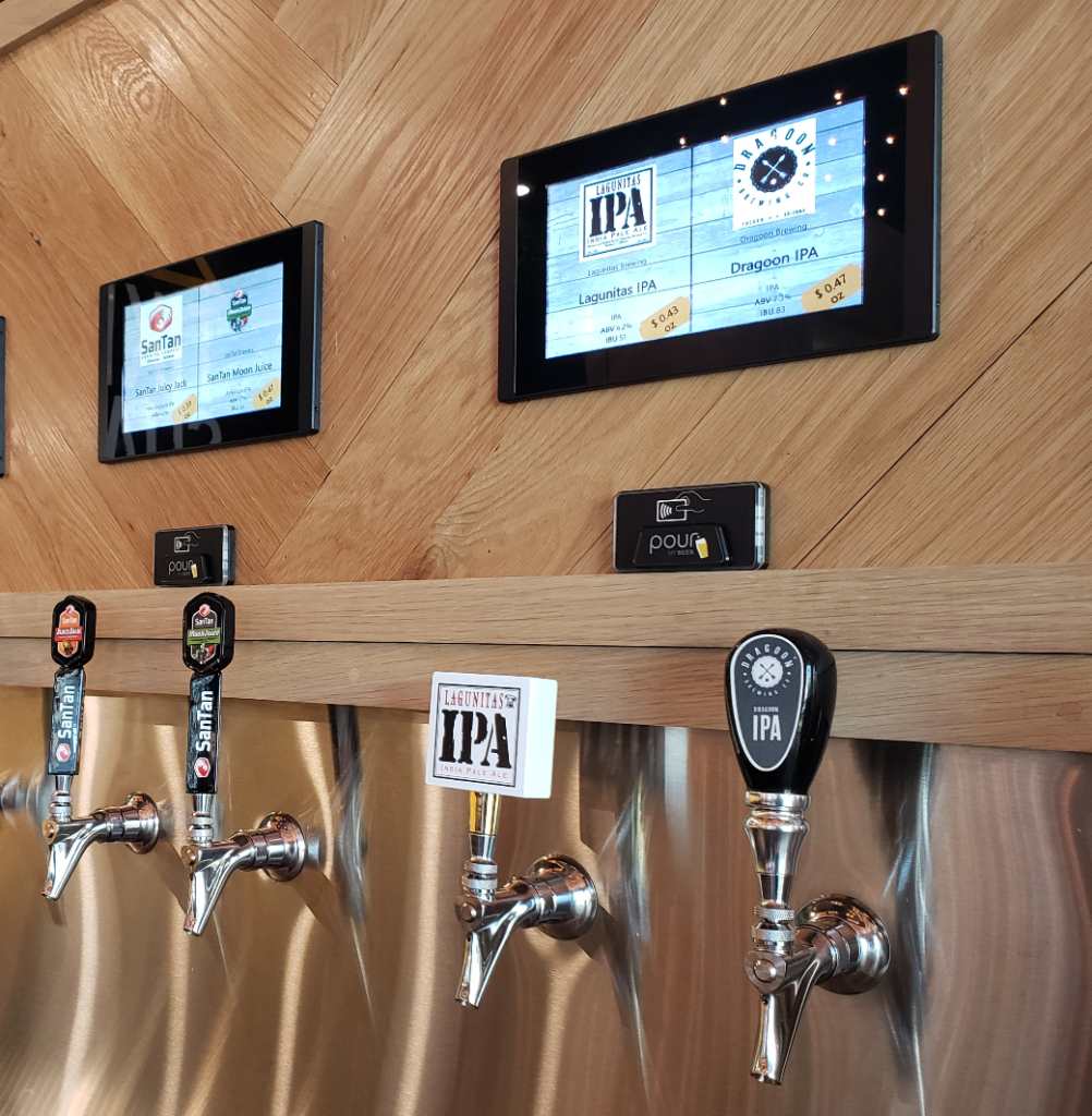 Price tags on PourMyBeer Screen
