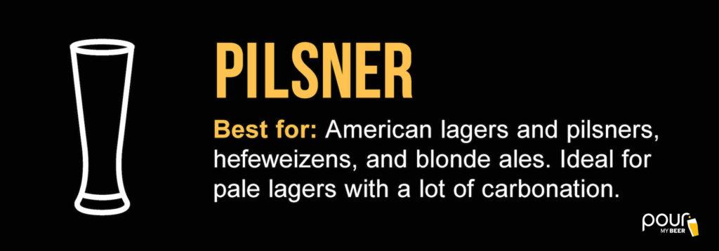 pilsner beer glass infographic