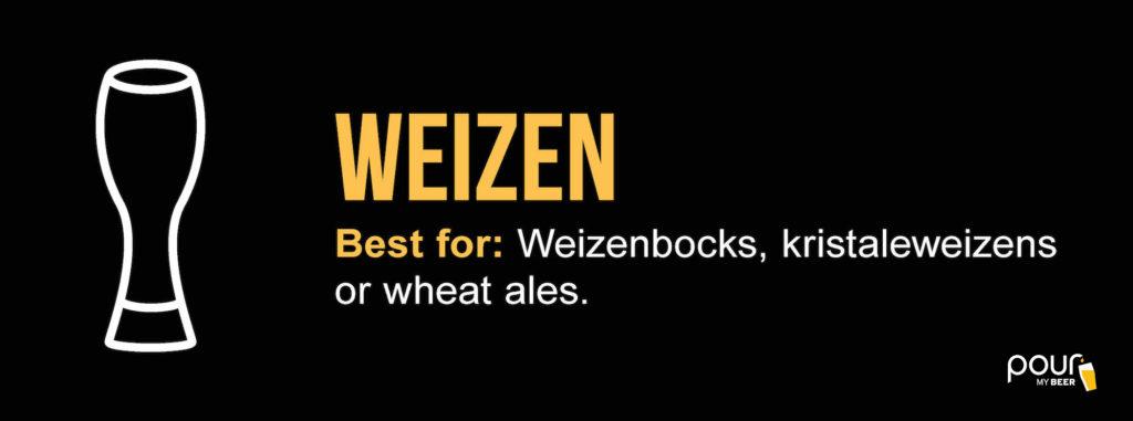 weizen beer glass infographic