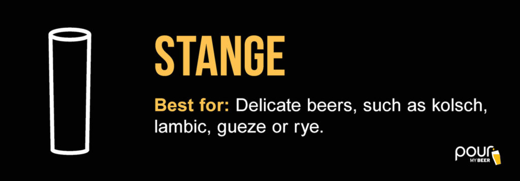stange beer glass infographic