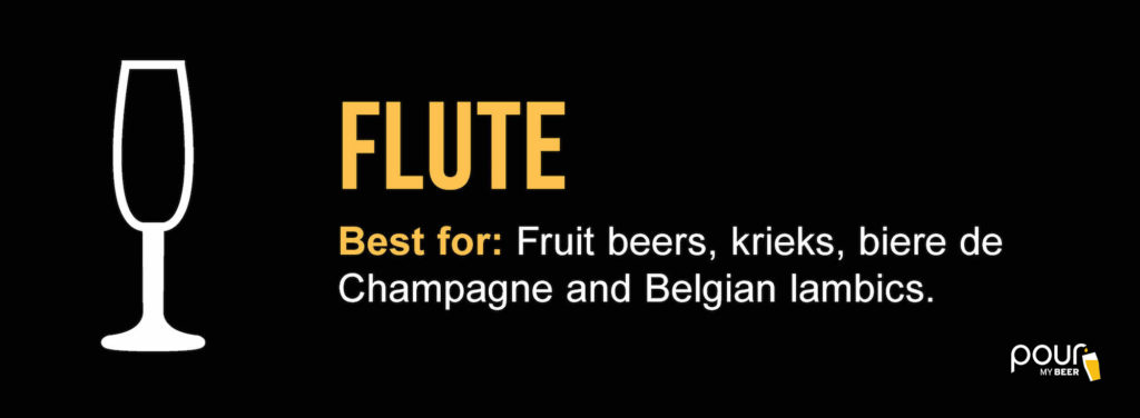 flute beer glass infographic