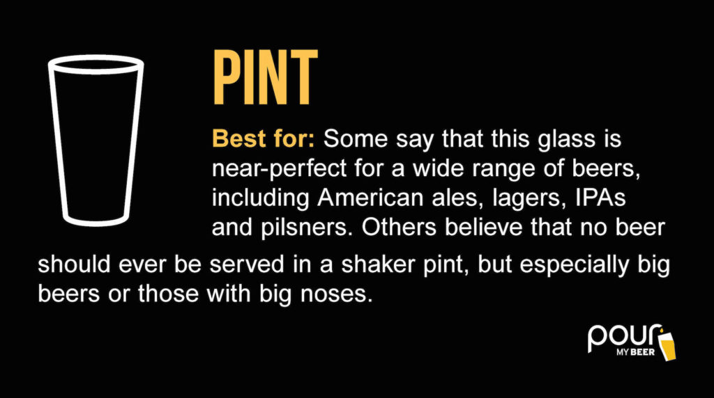pint beer glass infographic