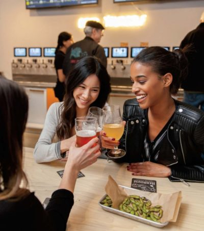 taproom with self-pour technology