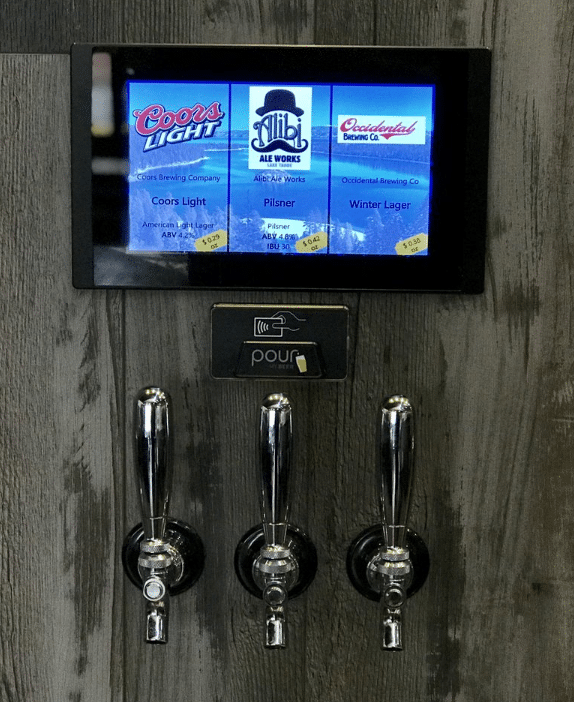 PourMyBeer tap technology 3 taps per screen