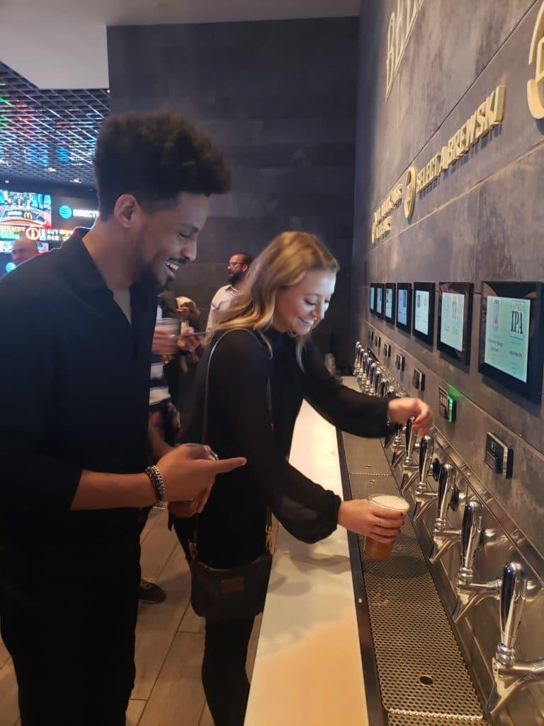 Self-pour tap technology