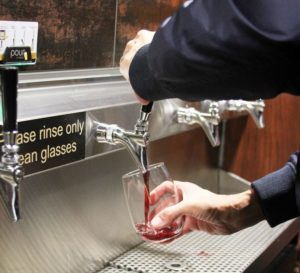 Wine on PourMyBeer self-serve tap