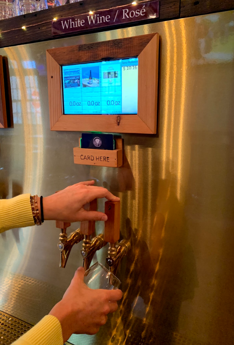 Wine on Tap from Self Serve Wine Wall