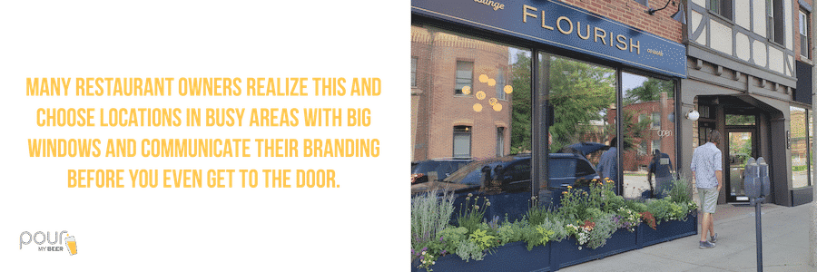 Communicate their branding before the customers even get to their door