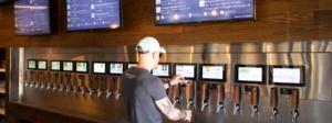 PourMyBeer Beverage Wall at Tap Society