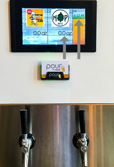PourMyBeer shows ounces and price in real time