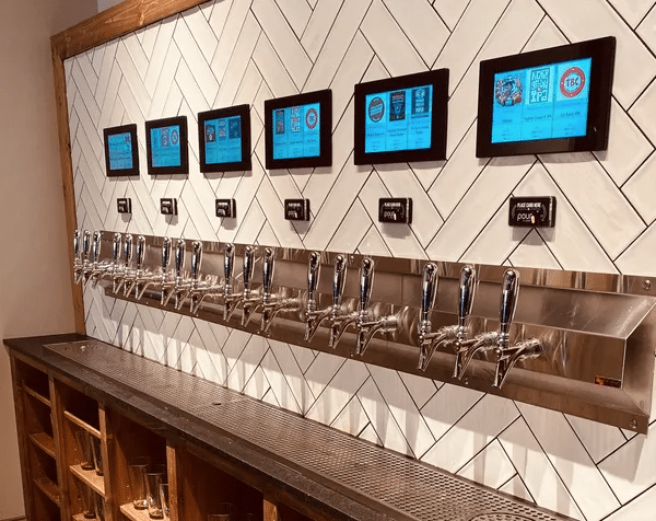 PourMyBeer self-pour beverage wall at Auto Pour