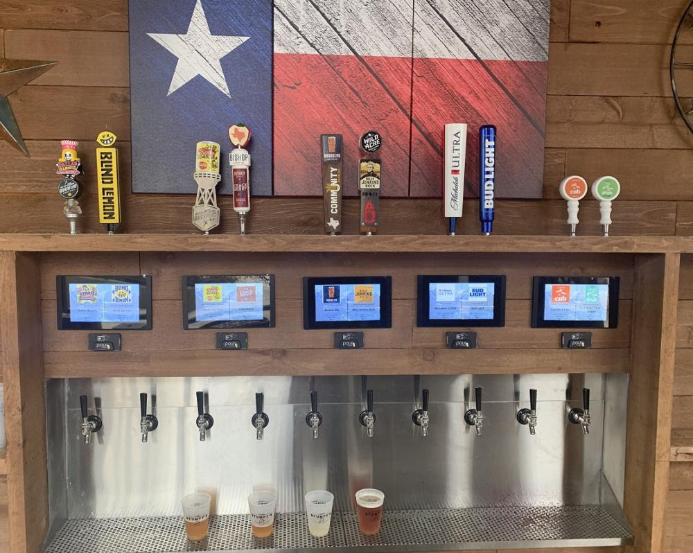 PourMyBeer self-pour beverage wall in Texas