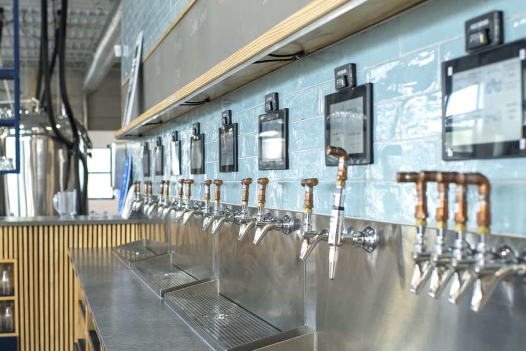 COVA Brewing Company self-pour beverage wall powered by PourMyBeer