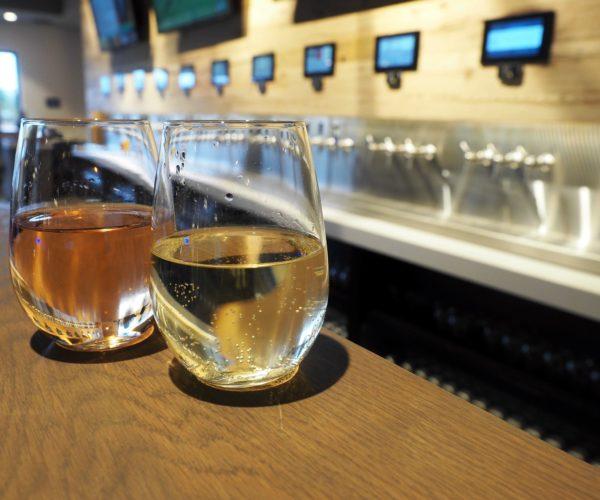 Craft food hall wine on taps