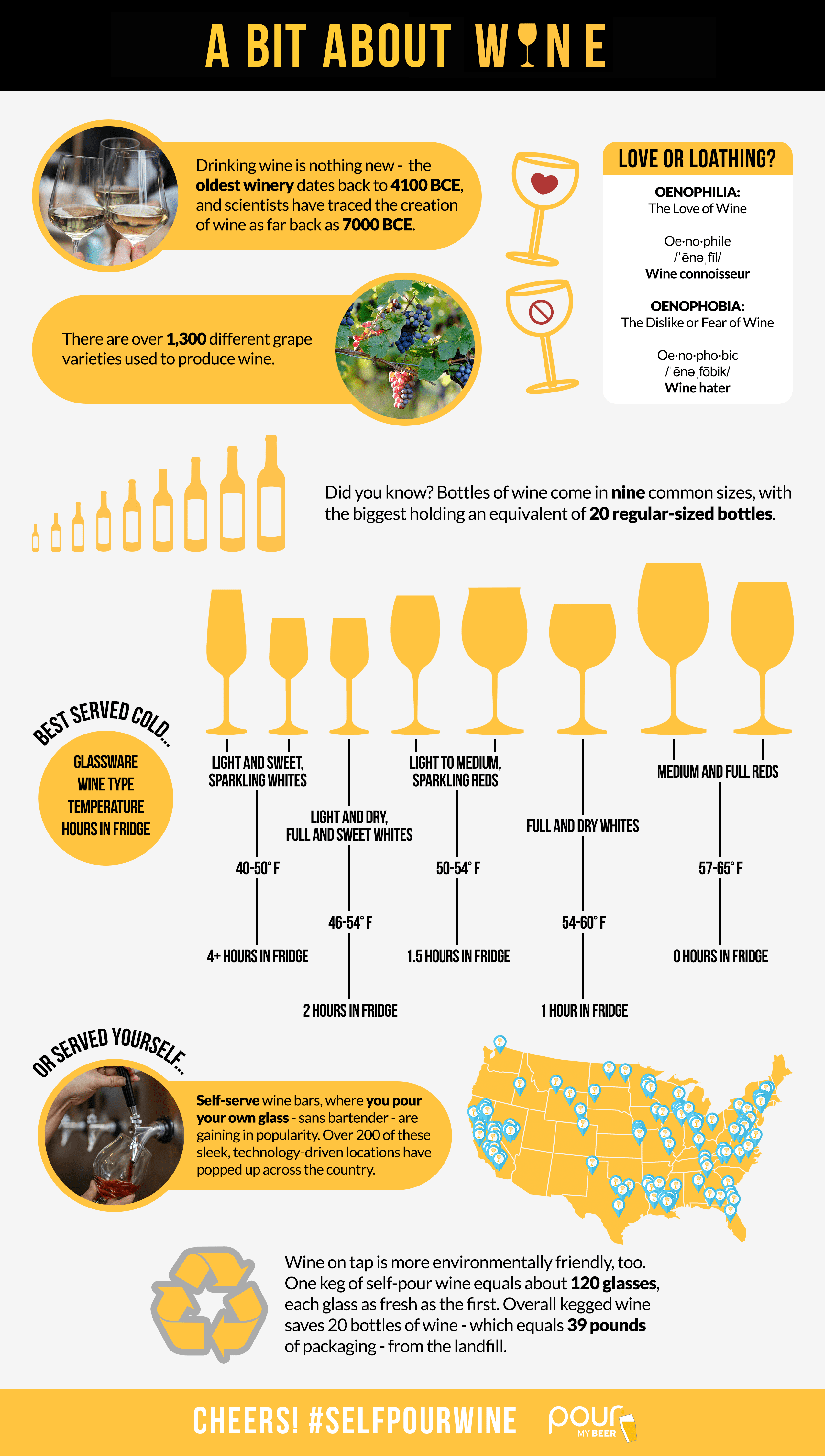 PourMyBeer self-pour wine infographic