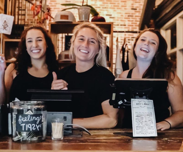 Staff trained at checkout for self-pour beer wall