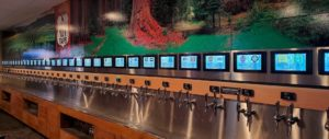 self-pour beverage wall in casino