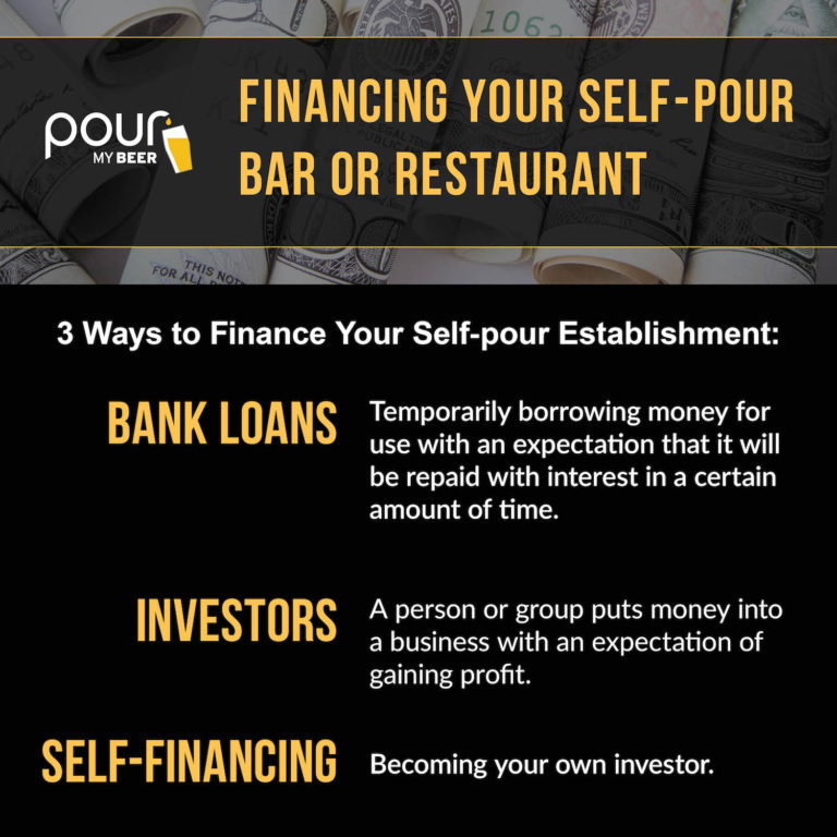 Financing Your Self-Pour Bar or Restaurant with Bank Loans, Investors, Self-financing