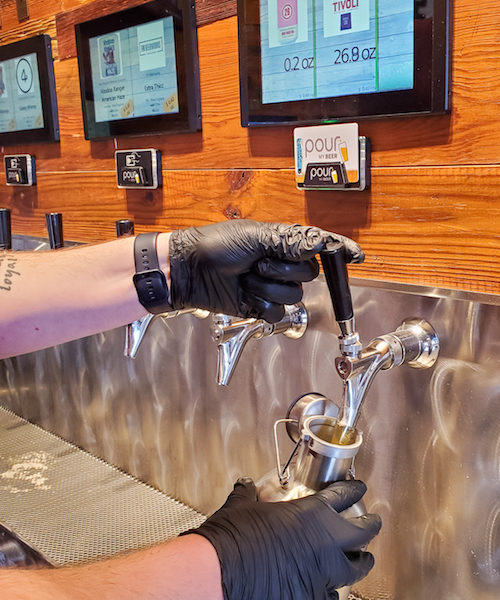 Sanitized & Clean Tap on Beer Wall