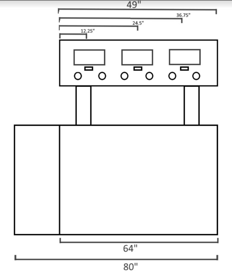 PourMyBeer mobile kegorator measurments