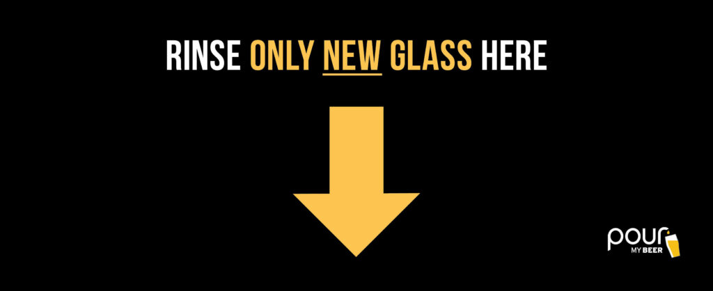rinse only new glass graphic
