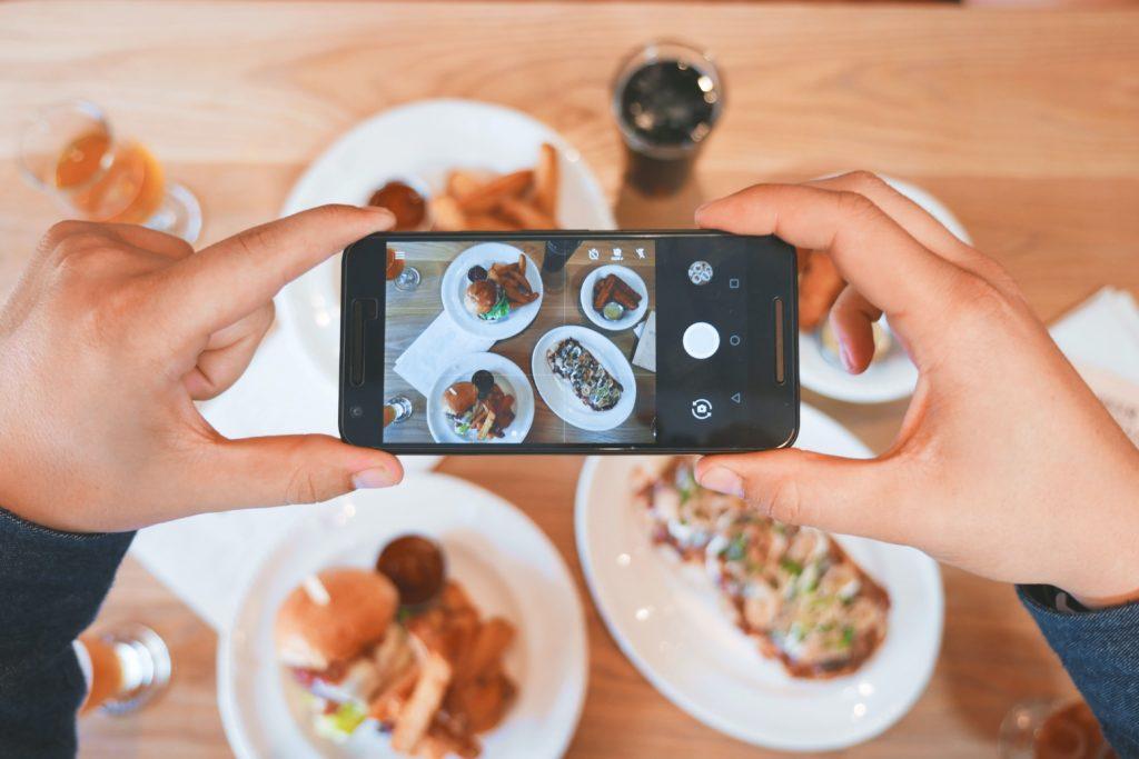 show food from your self-pour establishment online