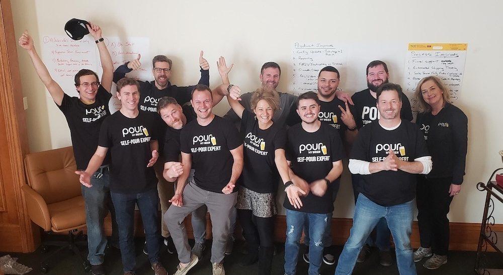 happy PourMyBeer team