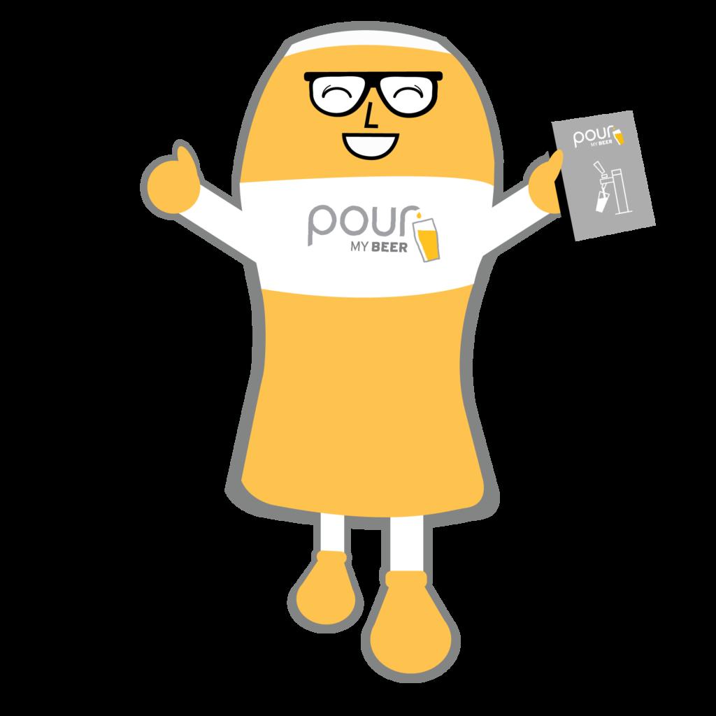 PourMyBeer's Mascot Hoppy reading