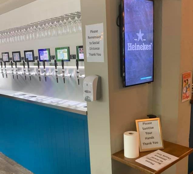PourMyBeer Wall and Signage for Sanitizing