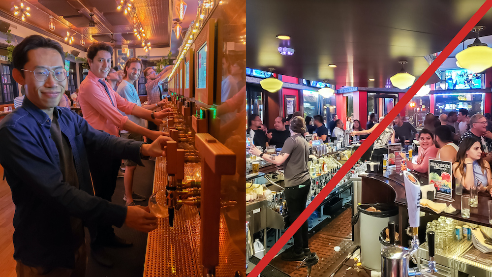 no crowds when using pourmybeer