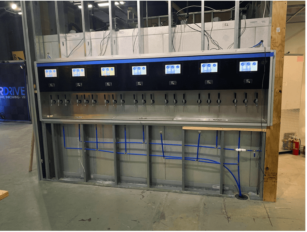 PourMyBeer self-pour tap wall construction considerations