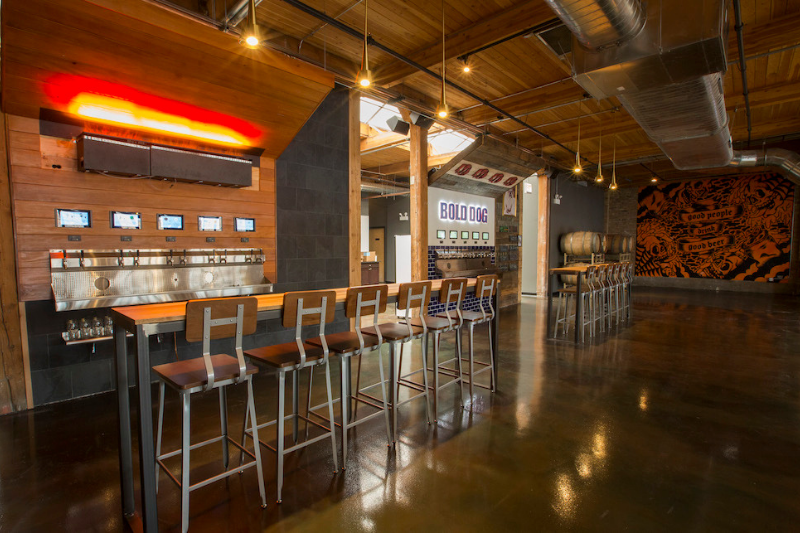 PourMyBeer self-pour wall at District Brew Yards