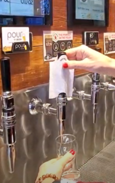 Tapkin pourmybeer beverage wall