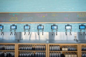 COVA Brewing PourMyBeer beverage wall
