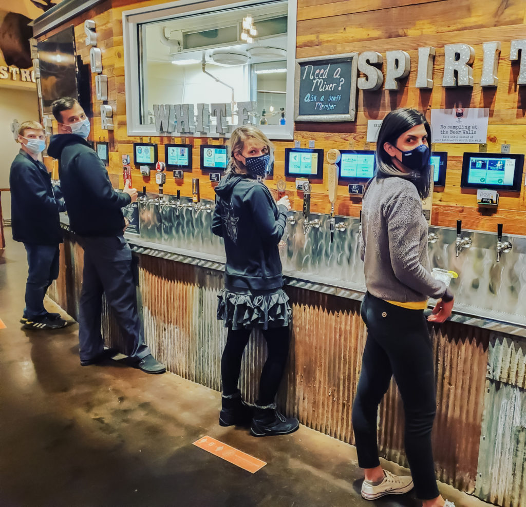 self-pour efficiency at Beasts & Brews 101 taps