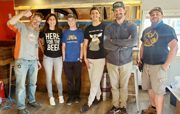 Kevin owner of Trails End Taprooms with PMB crew