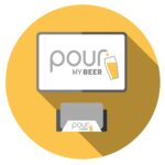PourMyBeer Screen and card reader animated