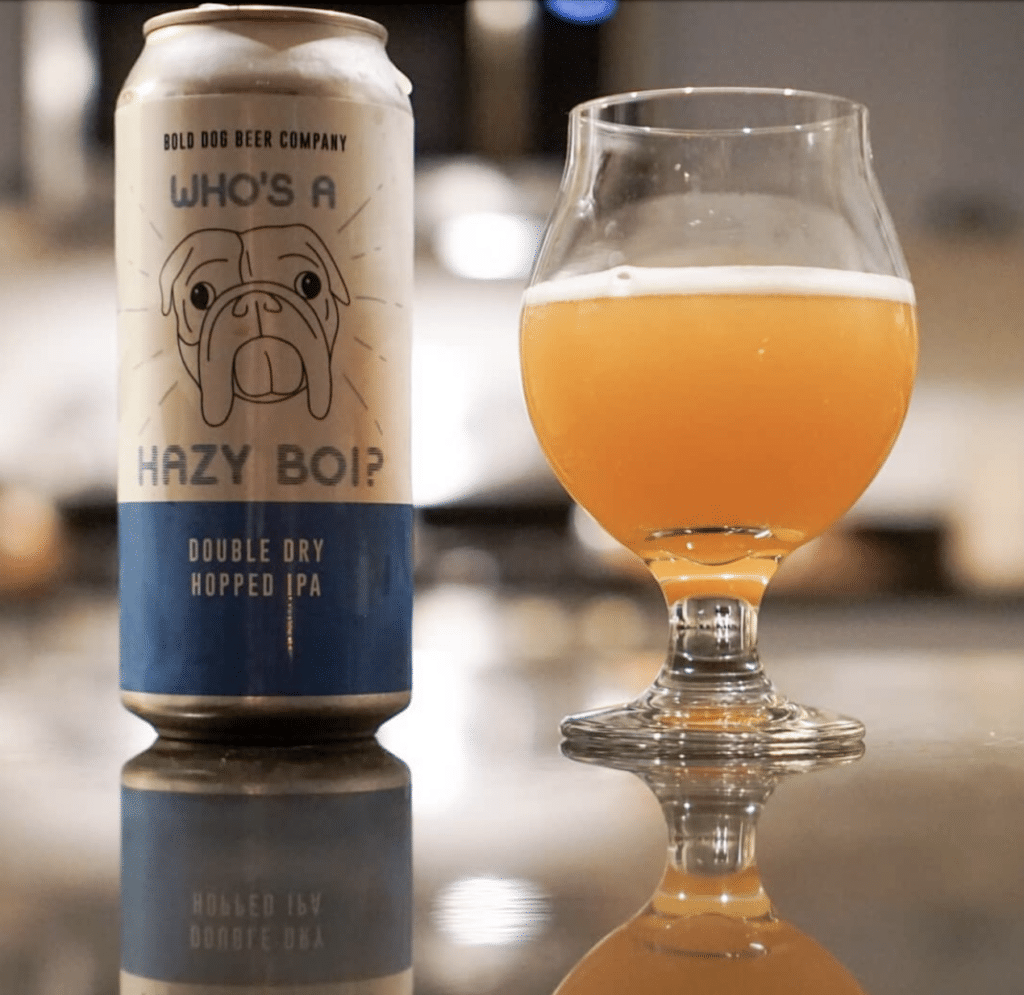 Bold Dog Beer Co Hazy IPA Pour